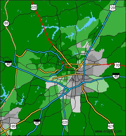 STI ERsys Greensboro NC Ethnicity - Greensboro nc on us map