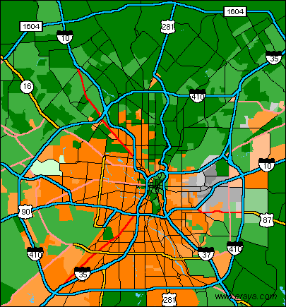 Ethnicity map of san antonio Houston China Grove schools