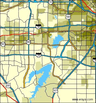 grand prairie texas map